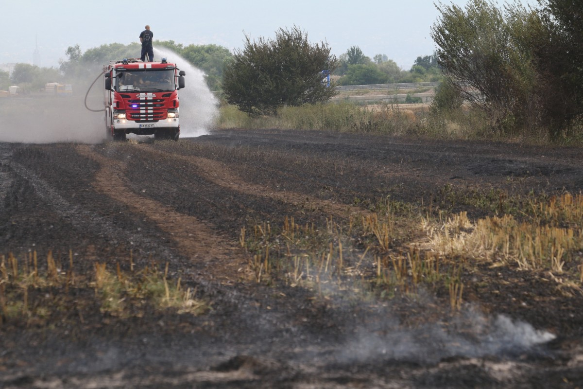 Човешка грешка е пожарът в Хасковско