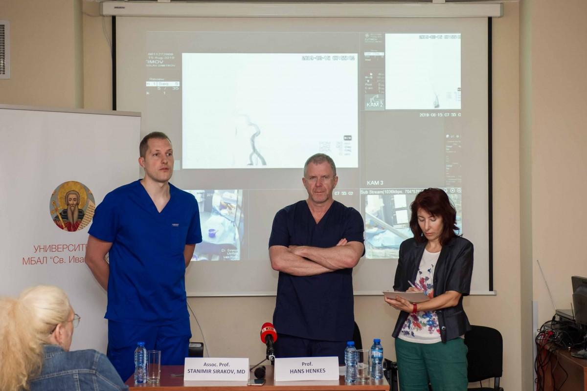 """С успех приключи първата операция на гигантска мозъчна аневризма в УМБАЛ """"СВ. Иван Рилски"""""""