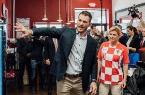 Хърватският президент впечатли Стипе Миочич в тренировка