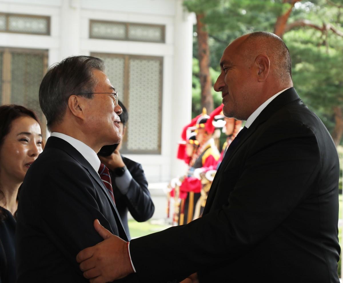 Президентът на Южна Корея пред Борисов: Чувам, че имате добри IT специалисти