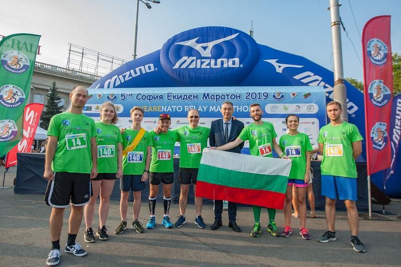 МВнР отбеляза своята 140-годишнина на Софийския Екиден маратон